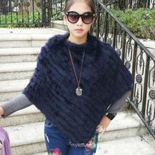 Attractive lady rabbit fur shawl