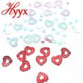 HYYX 2018 Mode Herzform 30mm flache Pailletten Fabrik Typen in großen Mengen lose Pailletten dekorative Pailletten Designs