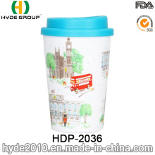 350ml Double Wall Printed Cup for Coffee (HDP-2036)