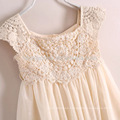 Wholesale A Line children's clothing summer lace flower girl dress for common wear