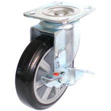 EG01 Swivel PU Caster With Side Brake(Black)