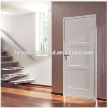 Puertas interiores calientes, precio barato y puertas de madera de los carriles, diseño blanco del moden Puertas interiores del dormitorio