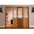 Interior wooden bi-fold door
