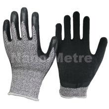 NMSAFETY anit cut guante guante de latex con resistencia al corte