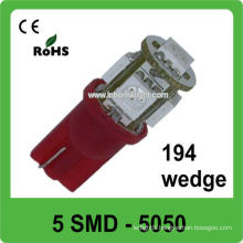 white 3 chip 5050 T10 led car boot lights