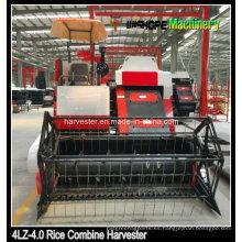 Rice Combine Harvester con pista de goma en venta