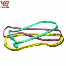 Construction Sling Color Code Polyester Duplex Lifting Webbing Belt Webbing Sling