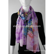 In Stock Polyester Rose Printed Scarf