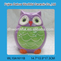 Cute owl shaped ceramic sugar and creamer set