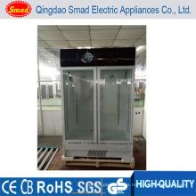 Vitrina del supermercado Exhibición de la puerta de cristal Refrigerador Refrigerador del restaurante