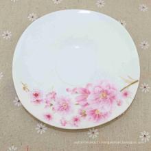 Différentes belles fleurs imprimant de nouvelles plaques de mélamine rectangulaires en porcelaine de Chine