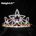 3inch Star Shaped Crystal Tiaras