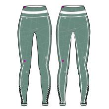 Pantalones de yoga de encargo del diseño caliente para el desgaste colorido de la aptitud de las mujeres