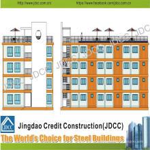Immeuble à plusieurs étages de bâtiment en acier léger de structure de coût bas pour des étudiants