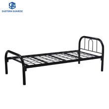 Cheap Price Kd Furniture Iron Round Tube Frame Metal Single Bed Frame