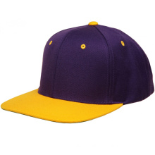 Custom Yellow Sports Flat Hip-Hop 6 Panel Snapback Caps