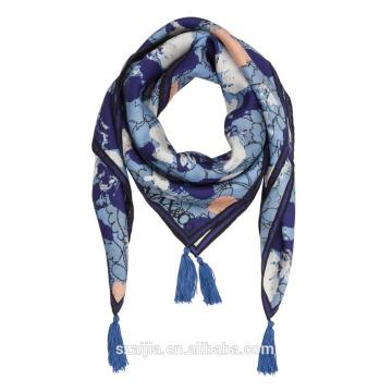 Fashion new ladies imprimé foulard carré en soie