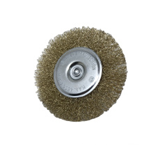 Good Quality Flat-shaped Wheel Crimped Wire Brush For Polishing and Cleaning