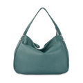 Lady Casual Pure Color Hobo-Tasche aus Leder