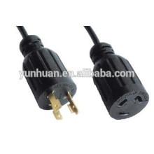 Rallonge électrique Ul certifié twist-lock de verrouillage connecteur 15 a 20 a 30 a