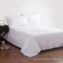 White sateen hotel fabric