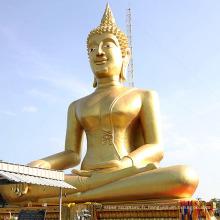 Très grand Népal fait à la main outdor assis méditant statue de Bouddha