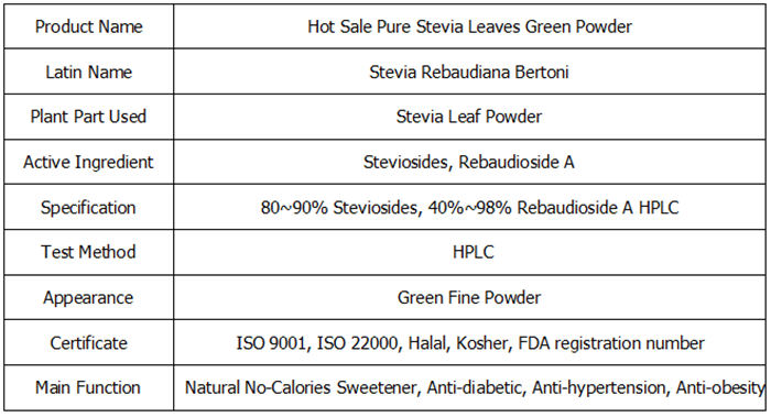 Hot Sale Pure Stevia Leaves Green Powder 3
