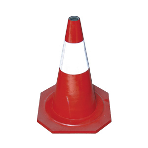 50cm reflective rubber traffic cones