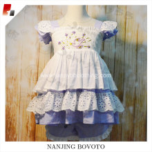 Hot sale boutique lavender embroidered clothing sets