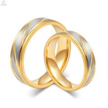 Arábia Saudita Gold Price Superfície De Areia Esculpida Textura Anel De Casamento De Ouro