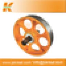 Ascensor Parts| Polea de tracción ascensor Deflector de hierro fundido polea Manufacturer|elevator