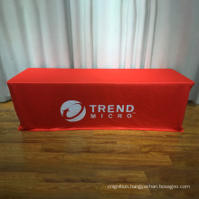 Custom fitted 6ft 8ft polyester table cover exhibition trade show