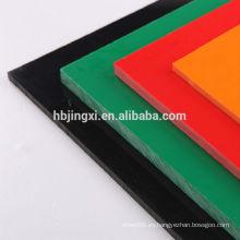 material de construcción pvc color gris hoja rígida