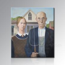 Peinture à l'huile de portrait fait main de la photo