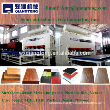 Double sides MDF board melamine laminating machine