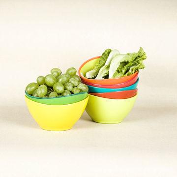 Ensemble de salade en plastique à deux tons