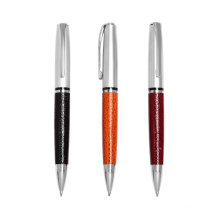 Metal Material Company Logo Pen Leather Ballpoint Pen
