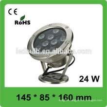 IP66 super bright outdoor recessed led light 24w pool led light