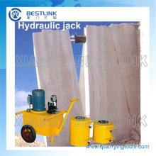 Pedreira pedra hidráulica Jack máquina para empurrar
