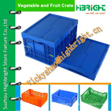 stackable and foldable high quality plastic crates with lids