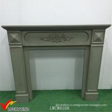 Европейский стиль / французский вкус Классический винтажный деревянный камин в зеленом