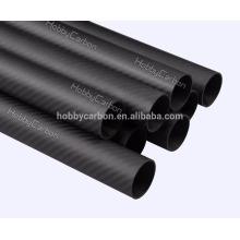 Manufacture OEM 30X26X1000mm 3k Matte Twill Plain 100% full Carbon Fiber Tube
