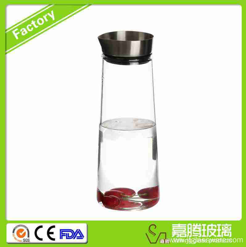 1500ml Glass Coffee/Any Baverages Pitcher with S.S.Lid