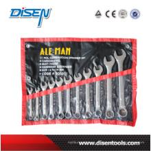 Raisd Panle Combinationr Wrench Set em saco de plástico