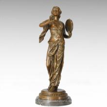 Tänzerfigur Statue Romantische Dame Bronze Skulptur TPE-287