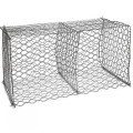 Gabion box wire fencing stone sage wall