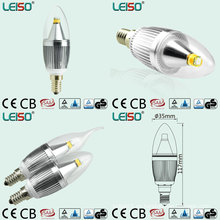 Bulbo de la vela de 5W 90ra E14 / B15 CREE Chip Dimmable LED (LS-B305-SB-A-CWWD / CWD)