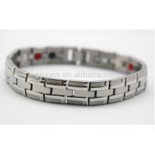 Custom pulsera de acero inoxidable cadena de plata para los hombres