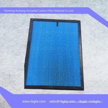 filtro de ar PP filtro de carvão ativado Filtro de papel ondulado opcional-amostra
