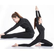Vêtements de sport à manches longues Femmes Sport T-Shirt Yoga Course à pied